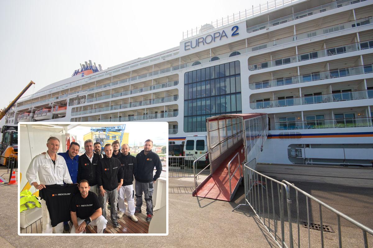 Das Frescolori-Team auf der MS Europa