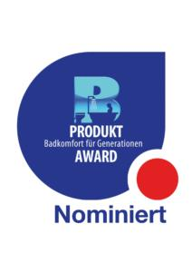 """Nominiert für den Produkt-Award """"Badkomfort für Generationen"""" 2021"""